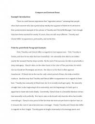 template fresh example comparison and contrast essay interesting essay example introduction example compare and contrast essay example of a contrast essay