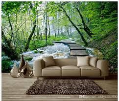 <b>3D wallpaper custom 3d murals wallpaper</b> landscap little stream ...