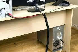 computer desk cable management desktop