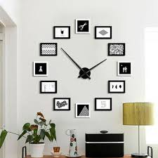 12 picture wall clock photo frame timer