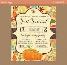 Fall Festival Harvest Invitation Poster Pumpkin Patch Farm