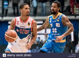 L) Jaime Smith and (R) Eric Maynor during an action Legabasket Serie Stock  Photo - Alamy