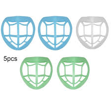 5Pcs 3D Face Mouth <b>Mask Holder</b> Inner Pad <b>Bracket Replaceable</b> ...