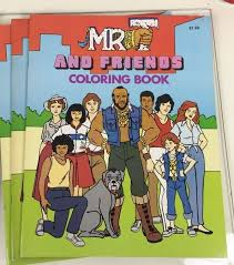 jim mooney original page mr t and friends colouring book