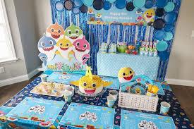 baby shark birthday party ideas photo