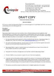 Letter Of Warranty As Guarantee Certificate Format New Warranty