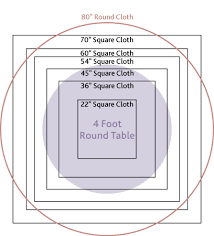 tablecloth size for round tables table cloths for 4 foot round table