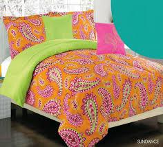 orange and green comforter sets girls kids bedding sun pink set 18