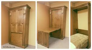 twin murphy bed desk. Twin Shaker Murphy Bed (with Hidden Desk) | Custom Twin Murphy Bed Desk D