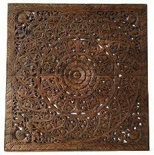 elegant wood carved wall plaque bali