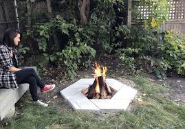 diy stone fire pit read story more info outdoor back yard hardscapes and grass photo 9 of 10 in dwell made