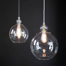 clear glass globe betty pendant light