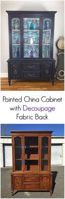 popular painted furniture colors. china cabinet with decoupage fabric backing popular painted furniture colors