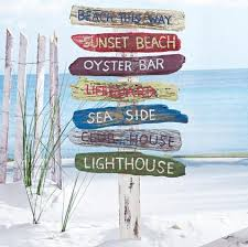 Outdoor Beach Signs And Decor tropical outdoor decor Beach Signs on a Stake I will buy a B for 2