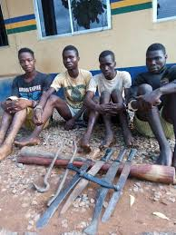 Image result for men arrested for robbery in lagos