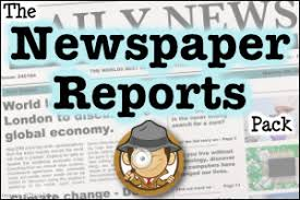 Write Your Own Newspaper Article Template The Newspaper Reports Pack