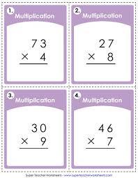 Multiplication Worksheets 2 Digit Times 1 Digit