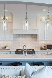 transitional kitchen lighting. White Beveled Subway Tiles With Shaker Cabinets - Transitional Kitchen Lighting D