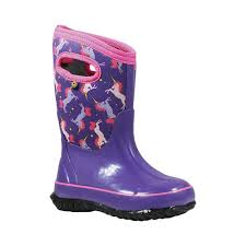 Childrens Bogs Classic Size 2 M Purple Multi Classic Unicorns