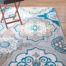 winston porter albion blue brown area rug reviews wayfair with regard to blue