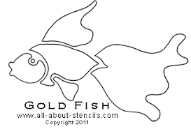 Simple Fish Outline Fish Stencil Template Under Fontanacountryinn Com