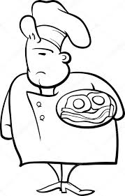 Engelse Chef Kok Cartoon Kleurplaat Stockvector Izakowski 54935131