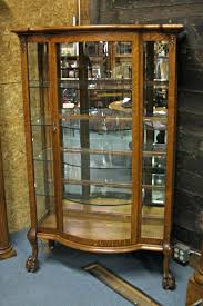 office beveled glass china cabinet granary mall walnut solid quarter oak with front curved door