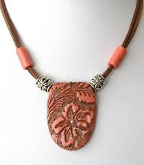 polymer clay necklace tutorial with inbuilt bail
