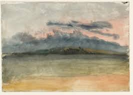 jmw turner storm clouds sunset with a pink sky 1833