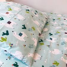 cot bed duvet cover set 100 cotton llama children s 100 llama cot bedding