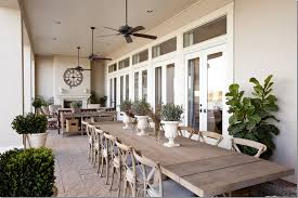 Superior Lengthy Patio . Table Seats 14 . Gorgeous Stain Color + French Grey  Cushions On Chair .