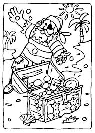 Kids N Fun Kleurplaat Piraten Piraat Vindt Schatkist