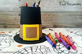 pilgrim hat crayon holder real housemoms