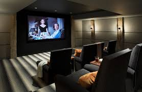 home theater carpet. home movie theater carpet farmhouse with striped wall sconces