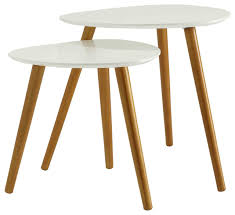 oslo 2 piece nesting end table set white