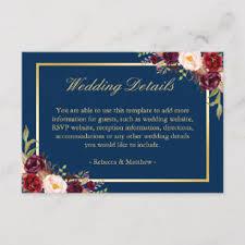 Wedding Enclosure Card Template Wedding Reception Enclosure Cards Zazzle