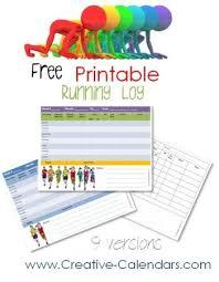 free printable running log running log