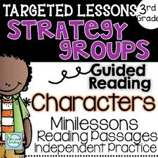 strategy groups with a focus on understanding characters 3rd grade