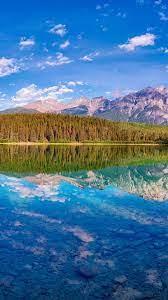 Beautiful nature landscape, lake ...