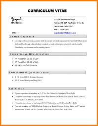 10 Curriculum Vitae Resume Sample Offecial Letter