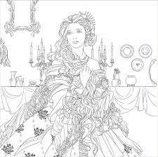 Small Picture Aliexpresscom Buy Beauty and The Beast Coloring Book For Adult