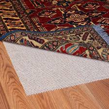 grip it super stop cushioned non slip rug pad for rugs on hard surface