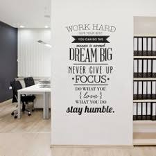 pictures for office decoration. Wall Decals Quotes Work Hard Vinyl Sticker Letras Decorativas Office Home Decoration Art Pictures For O