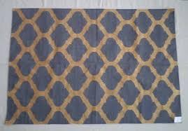cotton metallic rug