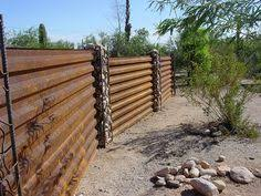 Simple Sheet Metal Fence Western Rib Bare Steel Intended Inspiration