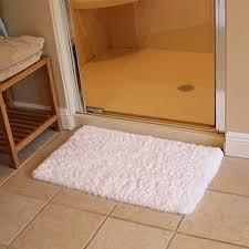 k mat 20x32 inch white bath mat soft gy bathroom rugs non slip rubber
