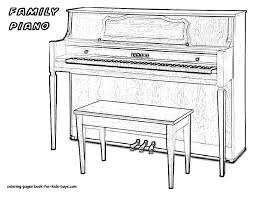 Real Piano Musical Instrument Coloring Is