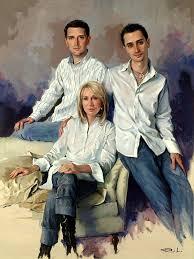 family portrait by spanish artist richardo sanz