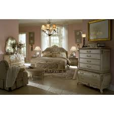 Michael Amini Living Room Furniture Michael Amini Lavelle Blanc 4pc King Size Mansion Bedroom Set By