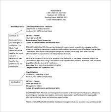 federal resume federal resume template 10 free word excel pdf format download